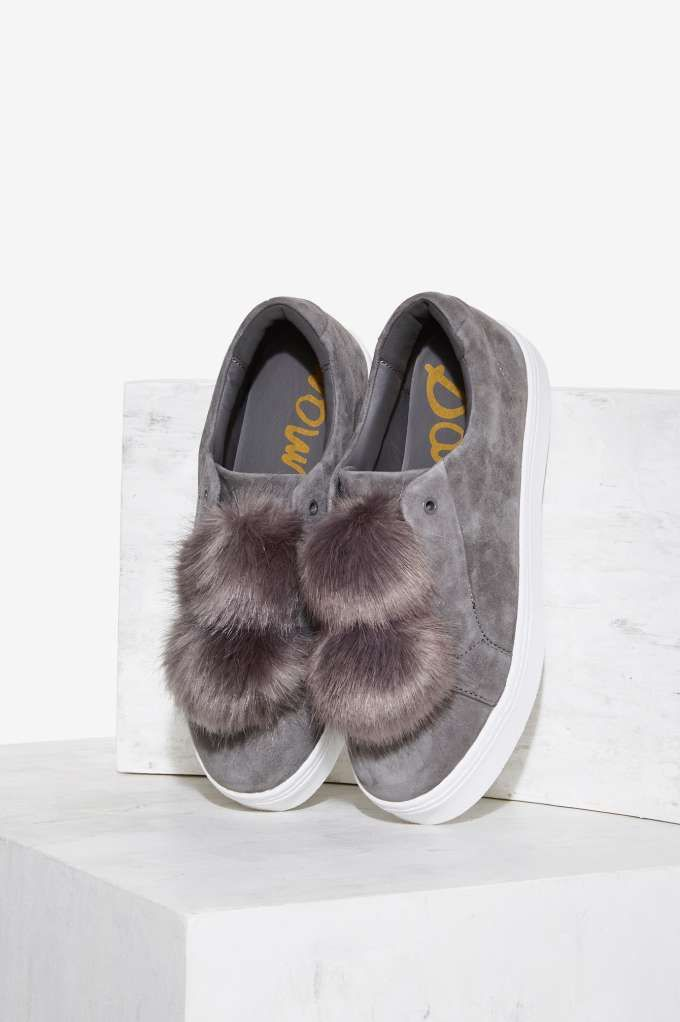 Sam Edelman Leya Suede Sneaker - Gray | Shop Shoes at Nasty Gal!