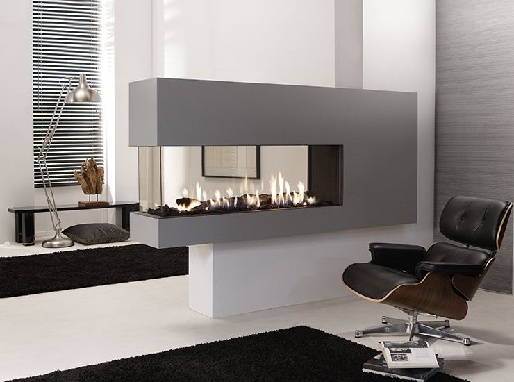 9 best modern peninsula gas fireplace 3 sided images on