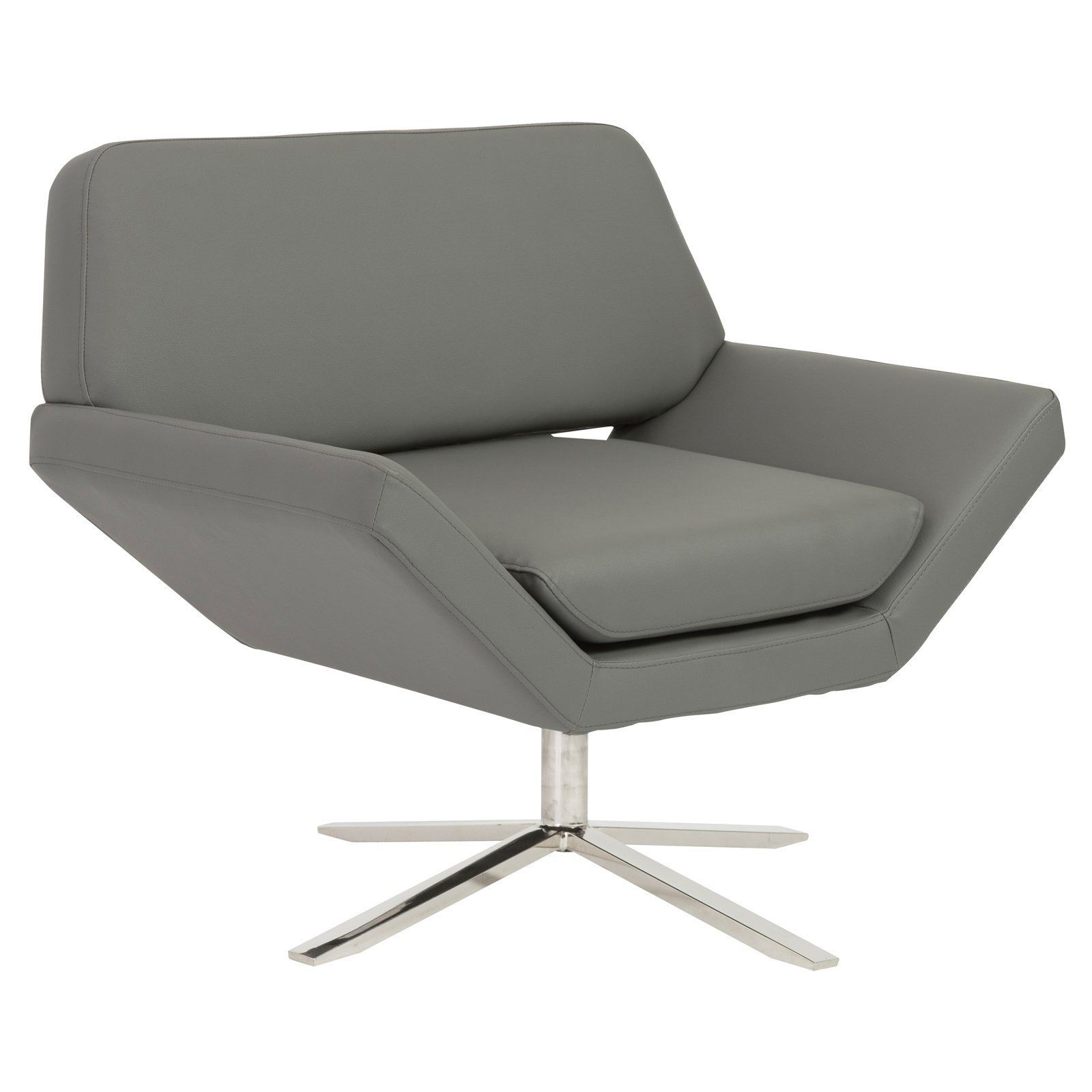 Euro Style Carlotta Lounge Chair   05007GRY