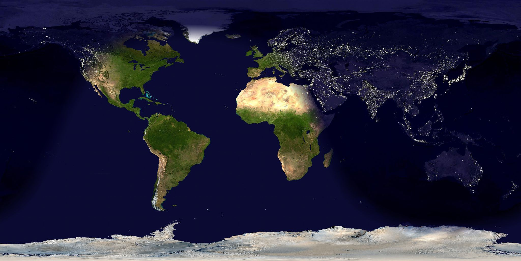 Map In Earth%0A A World Wide Total Daily Snow and Ice Cover Map with Color Coded Snow and  Ice Cover Over the Entire Earth