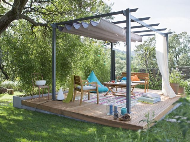 Pergola grise petit prix leroy merlin jardin outdoor for Salon de jardin fer forge leroy merlin
