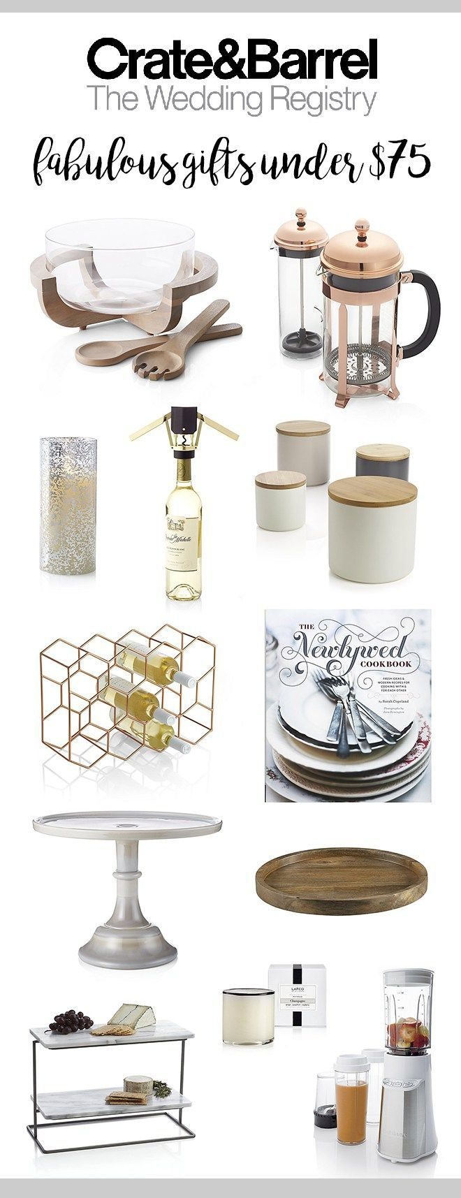 Top Crate & Barrel Registry Picks By Price, 25, 75, and