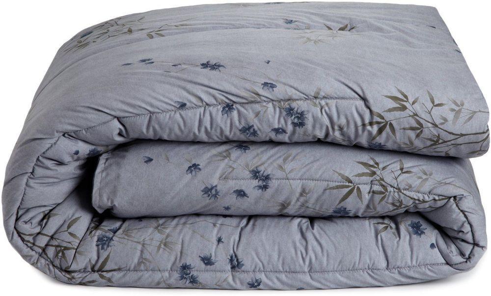 Calvin Klein Bamboo Flowers Hyacinth Blue Full Queen Comforter