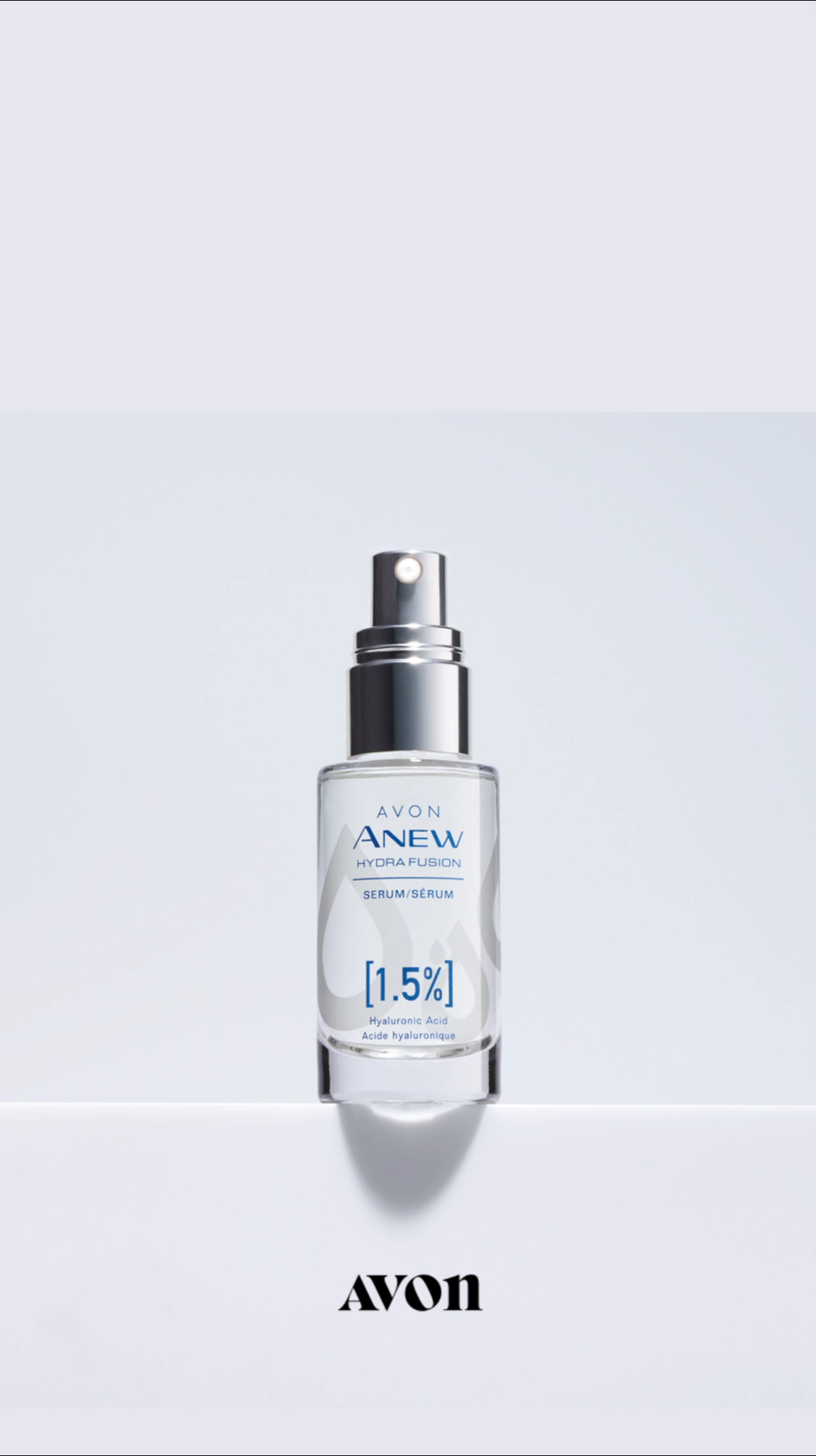 😍Dry Skin on Face? Here's a Remedy Product! It's your rescue treatment on how to get rid of dry flaky skin on your face. This skincare product delivers overall deep hydration with hyaluronic acid to reduce fine lines. Shop the Avon Hydra Fusion Serum online with free shipping on $40 orders. #dryskin #dryskinremedies #dryskinrelief #skincareroutine #avon #avonanew #hydrafusion