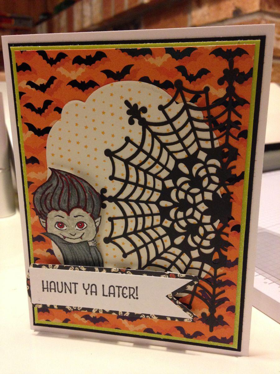 Haunt Ya Later Dracula Stampin Up Halloween Card