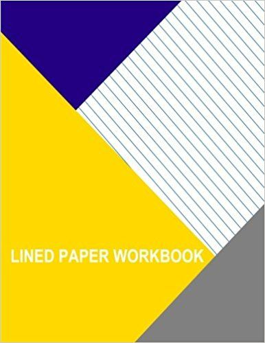 Lined Paper Workbook Left Handed - Slant Ruled - Wide Ruled - lined paper with picture