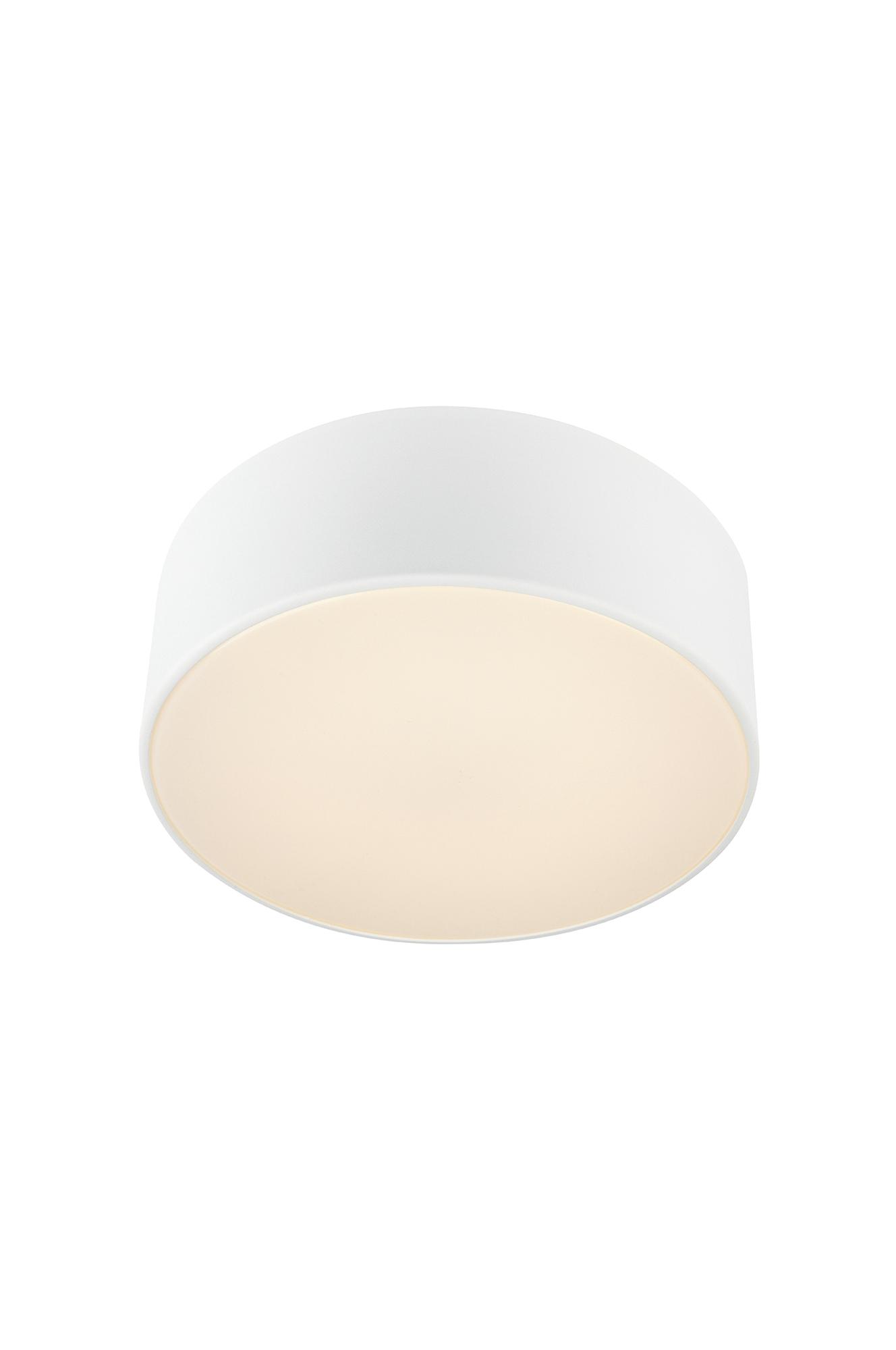 Facile takplafond for baderom fra Markslöjd. Base i metall og kuppel i akryl. Innebygd LED. 9W, 300 Lumen, varmhvit 3000K. Fast, jordet installasjon, skal installeres av elektriker. Godkjent for bruk i baderom. IP44. Ikke dimbar. Lengde 28, bredde 28, høyde 10 cm.