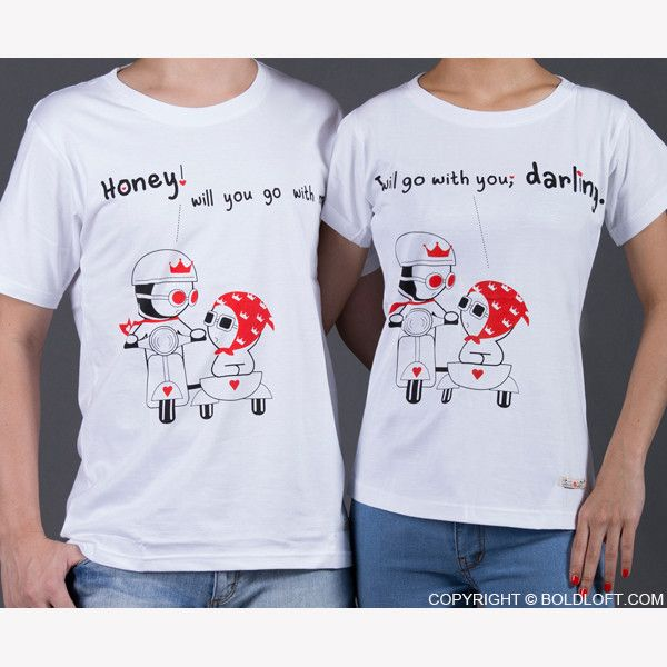 Wedding Gift For Those Who Have Everything: You Go, I Go Couple T-Shirts-Can't Think Of A Gift For