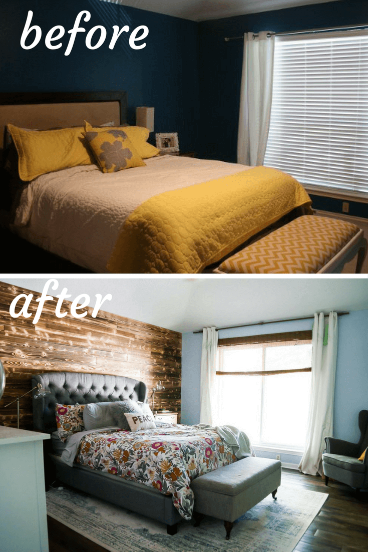 Room Master bedroom before and after