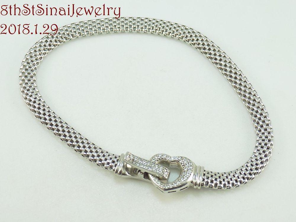 Sterling Silver Fantastic Marked Jcm Jacmel Mauritius Italy Link Bracelet Fine Jewelry