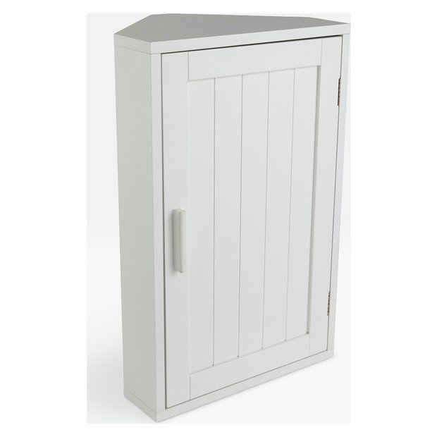 buy argos home wooden corner bathroom cabinet white at argos rh pinterest es