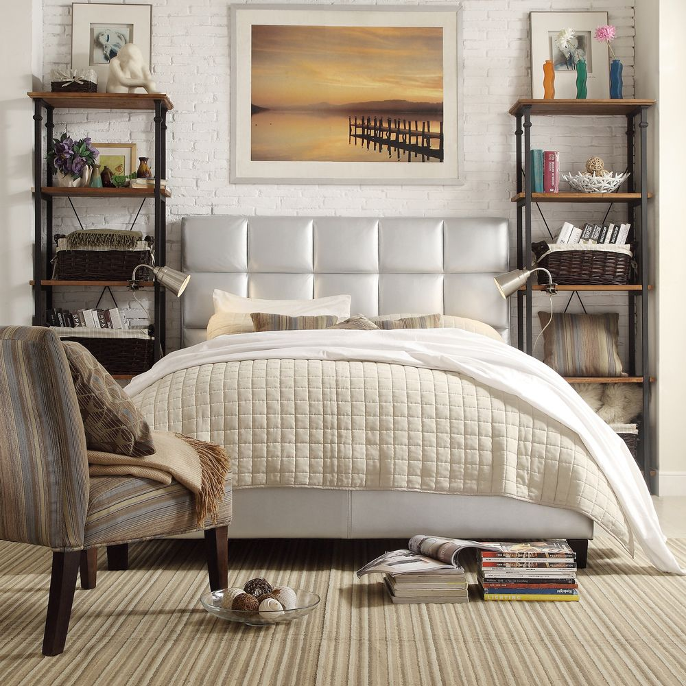 INSPIRE Q Fenton Silver Column Platform Bed | Overstock.com Shopping -  Great Deals on