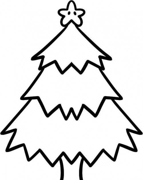 Christmas Tree Which Is Cool And Funny Coloring Page Easy Christmas Drawings Christmas Tree Drawing Easy Christmas Tree Drawing