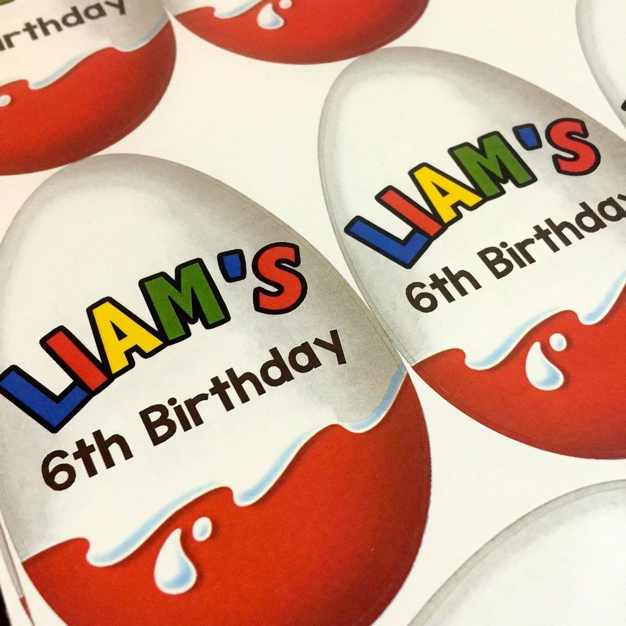 Kinder Surprise Chocolate Birthday Stickers Personalised Ideas Party Birthday Stickers 2nd Birthday Parties Kinder Surprise