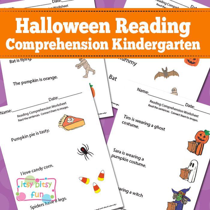Kindergarten Reading Comprehension Worksheets - Halloween