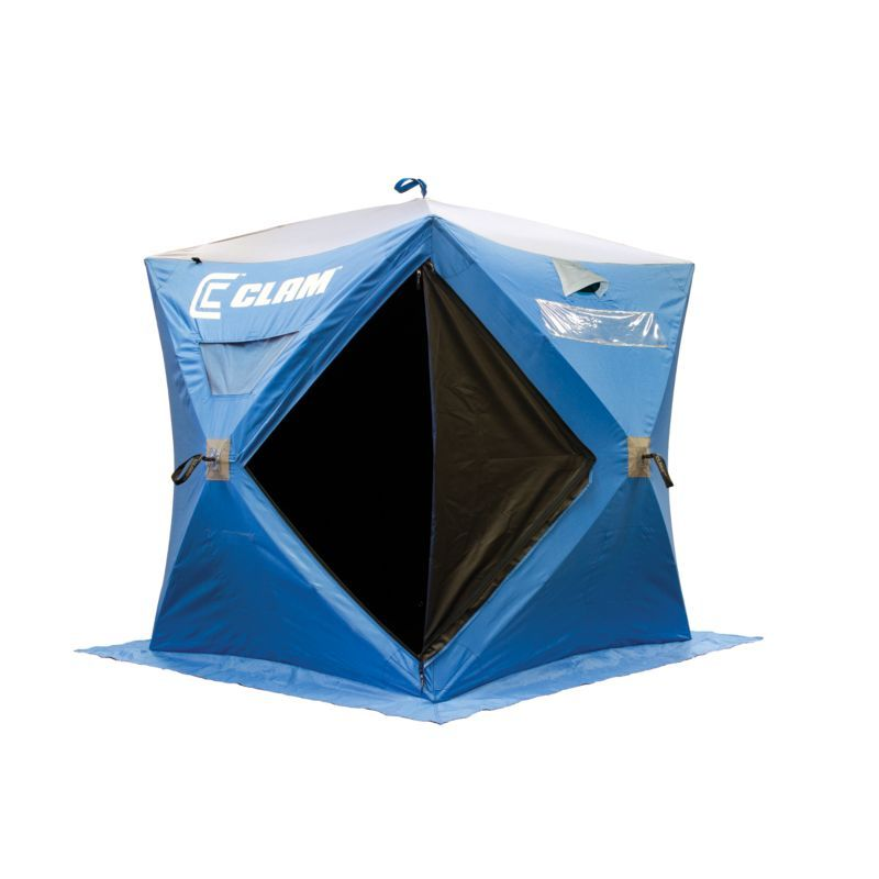 clam featherweight 5500 2 person ice white fishing shelter products rh pinterest com