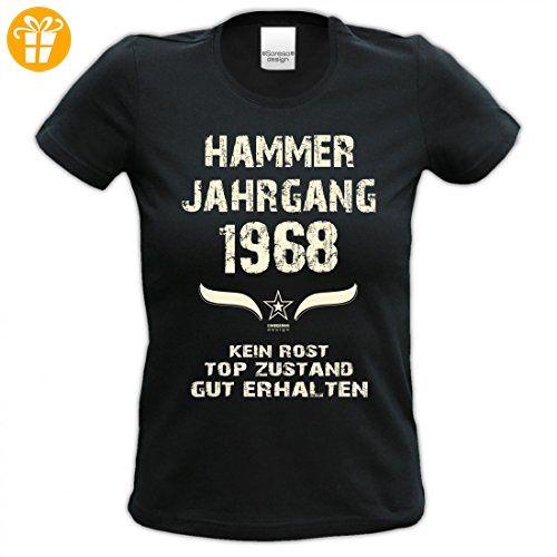 Lustiges Damen T-Shirt zum Geburtstag - Hammer Jahrgang 1968 - witziges  bedrucktes Lady Hemd