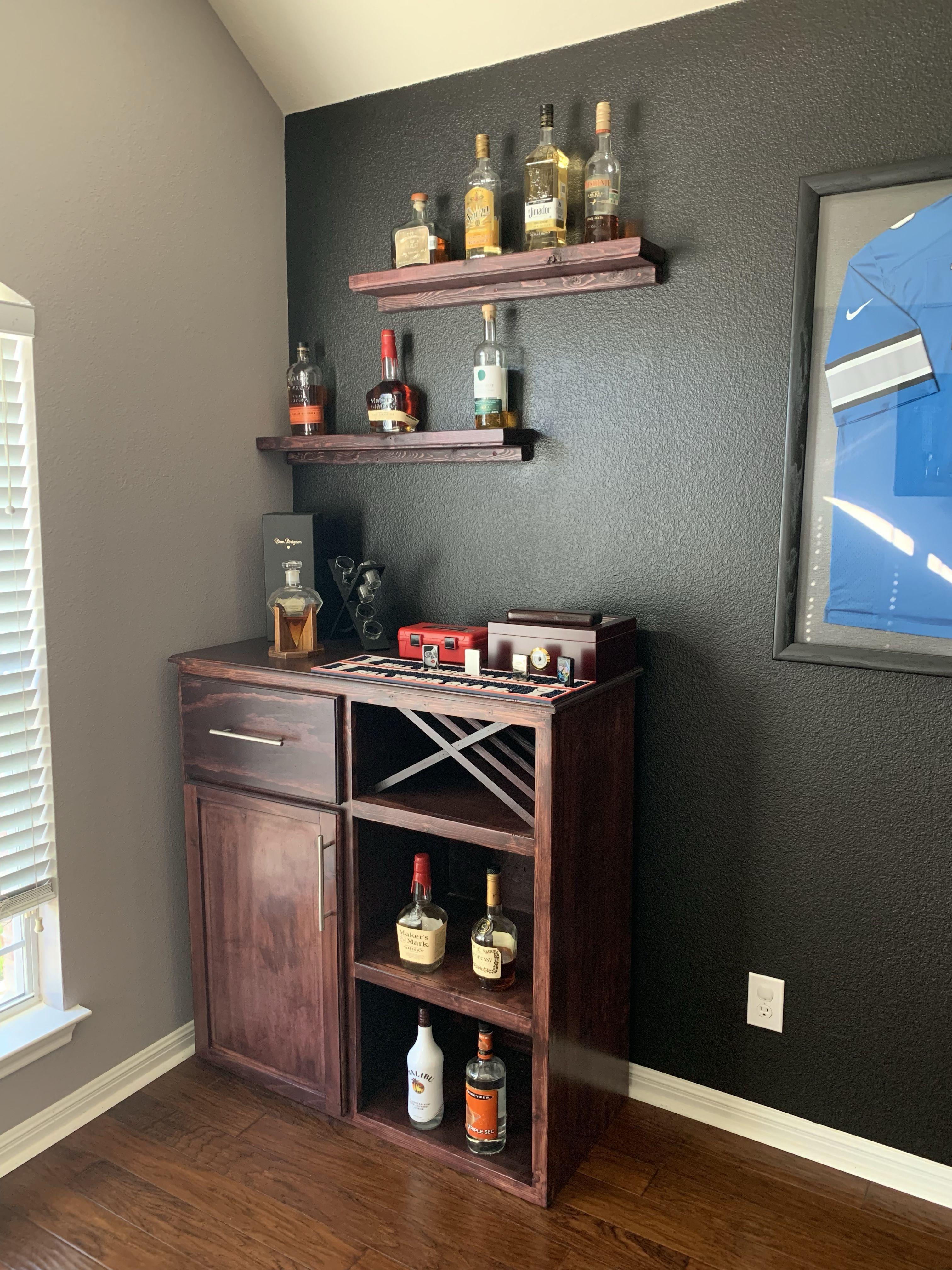 Small bar I made for a friend. Diy home bar, Kitchen bar