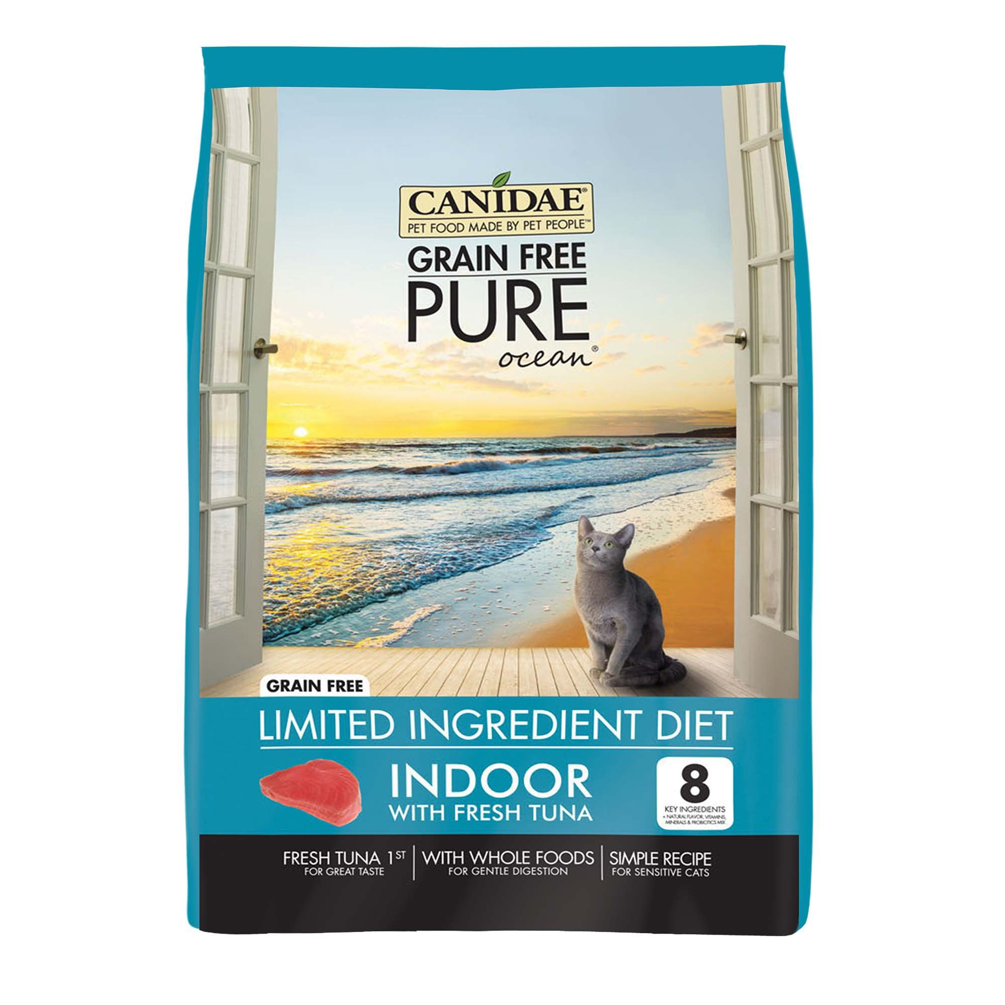 Canidae Grain Free Pure Ocean Indoor Cat Dry Formula With Tuna 5 Lbs Petco Dry Cat Food Grain Free Fermentation Products