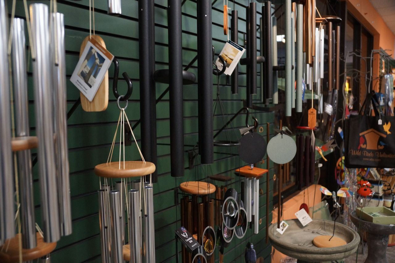 Some Of The Many Engaging Items For Sale At Wild Birds Unlimited Visit Their Two Area Locations 7370 West 88th Wild Birds Unlimited Wild Birds Wind Chimes