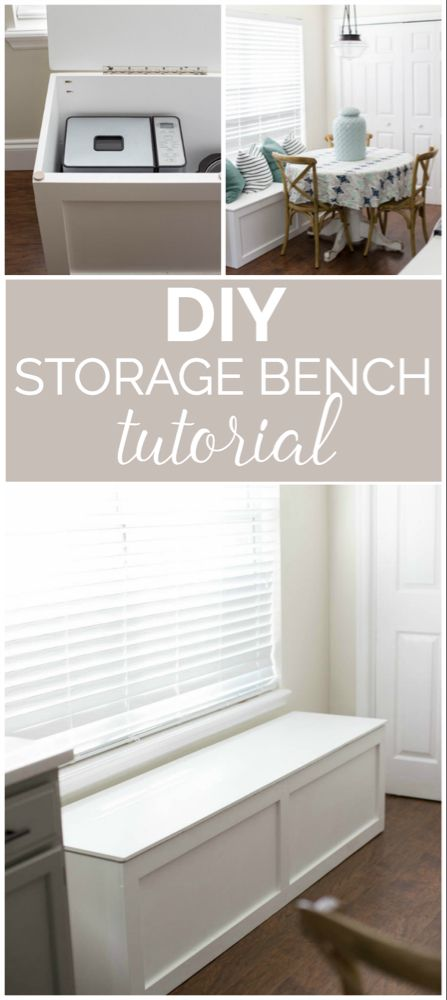 How to Build a Window Seat with Storage - DIY Tutorial -   diy Storage seat