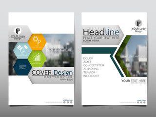 Hexagon Technology Flyer Cover Business Brochure Vector Design