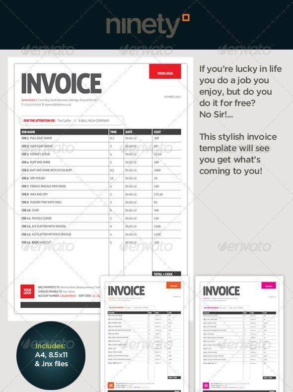 Generic Invoice Template Design Pinterest Invoice template - design invoice template free