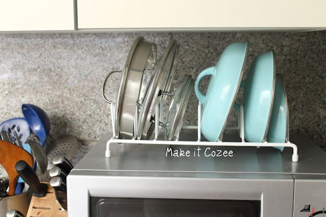 Plate Drying rack to organize pots and pan lids