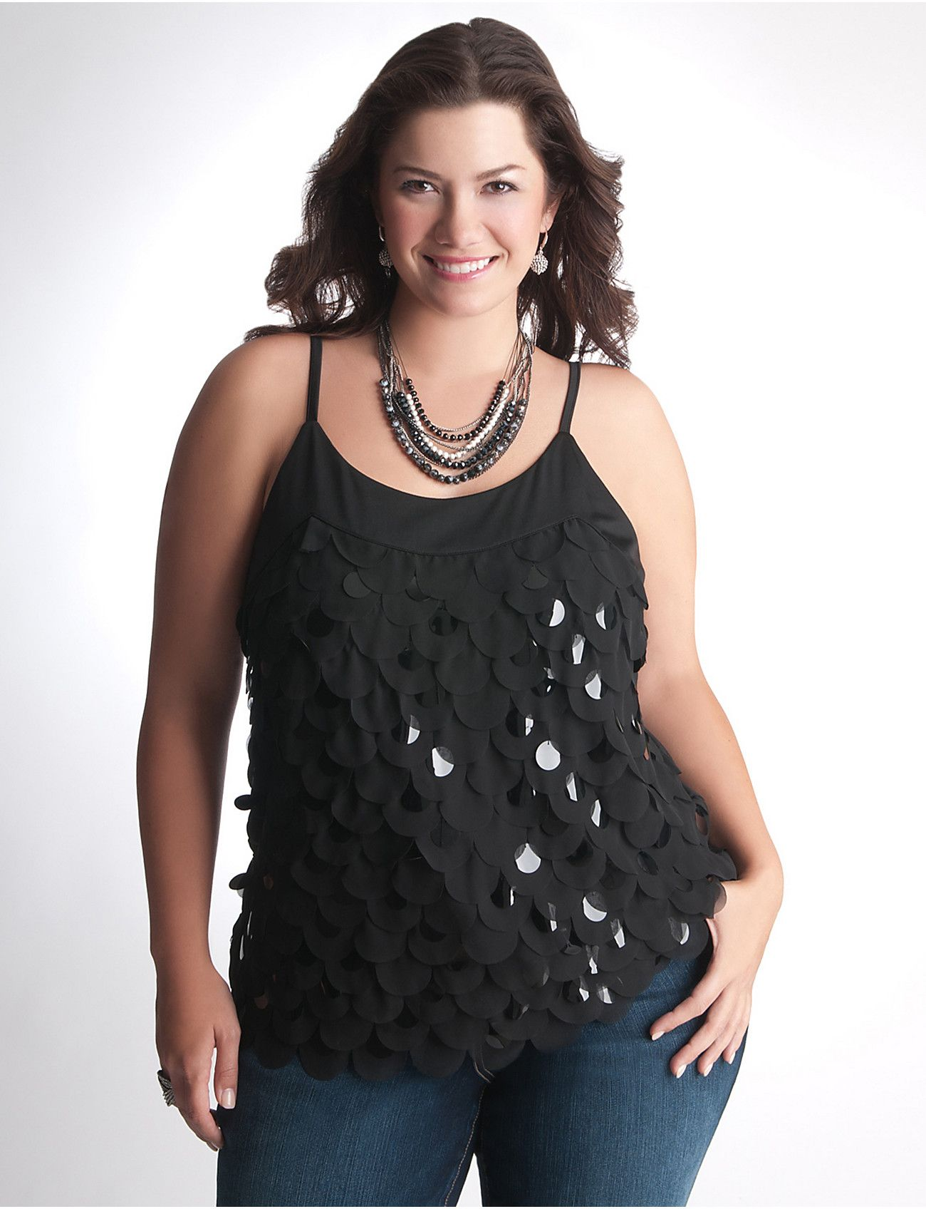 4fb5925faa6 Plus Size Sequin Cami by Lane Bryant