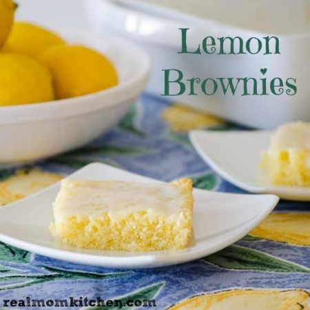 Lemon Brownies | realmomkitchen.com