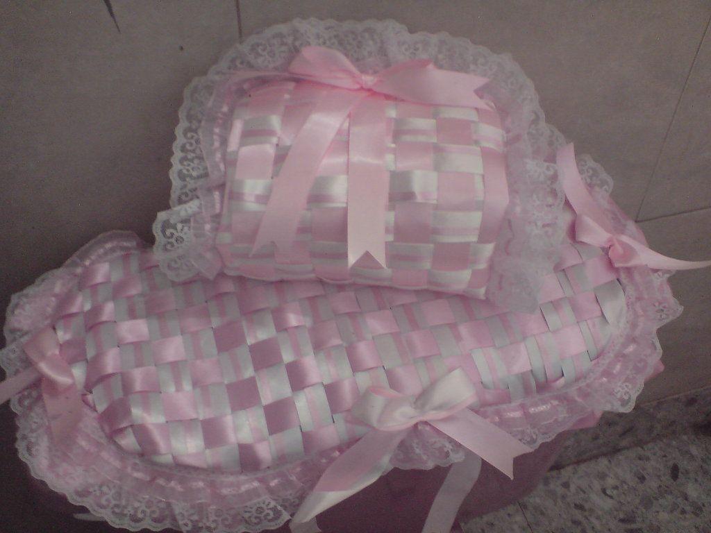 Juegos de ba o tejidos con cinta y encaje craft for Set de bano tejidos
