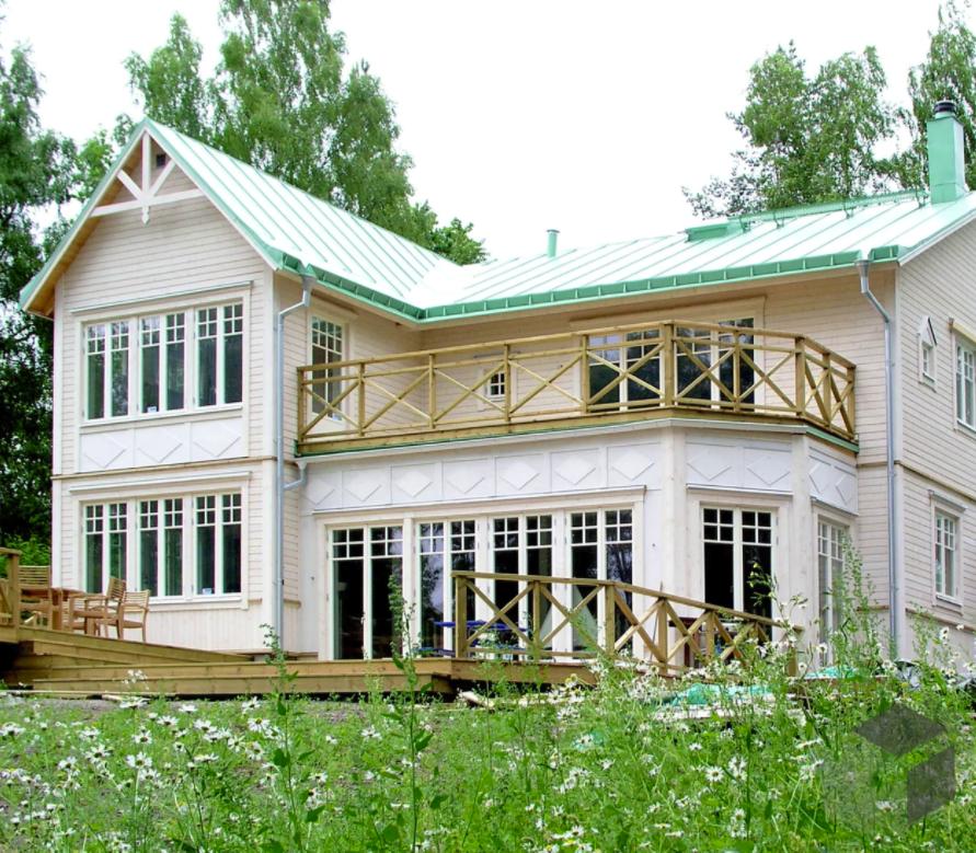 das tolle einfamilienhaus gro handlarvillan von karlsonhus hat 6 zimmer und eine wohnfl che von. Black Bedroom Furniture Sets. Home Design Ideas