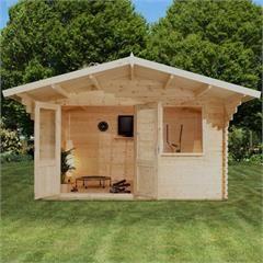 Mercia Greenacre Retreat Log Cabin W13ft X D10ft On Sale