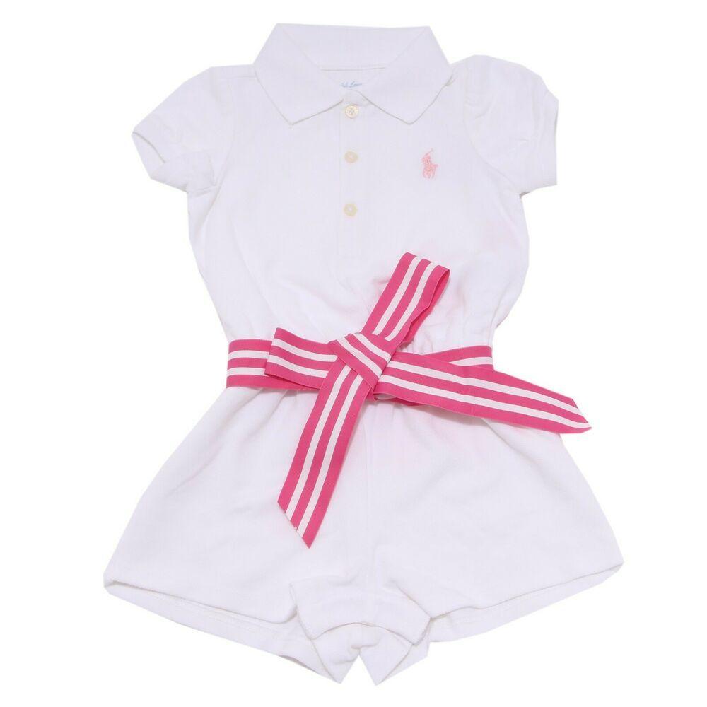 brand new cc3e7 c98e8 7465W vestito bimba girl body RALPH LAUREN girl cotton ...