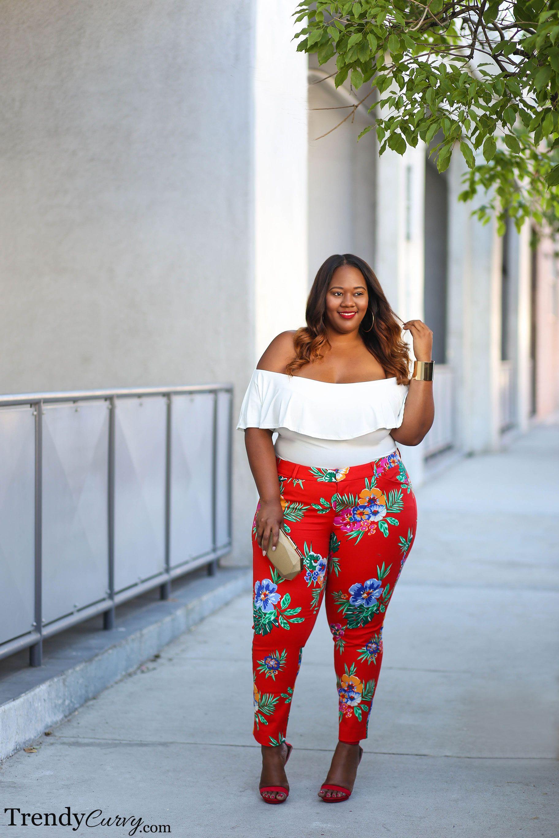 plus size fashion | bold prints | trendycurvy | curvy girls