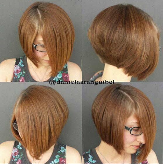 brown short bob haircut side back view hair and makeup