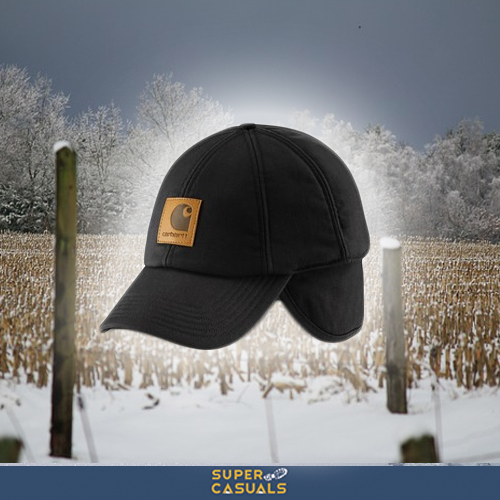 76643fd20dc78 Give your ears an extra layer with the  Carhartt Workflex Ear-Flap Cap