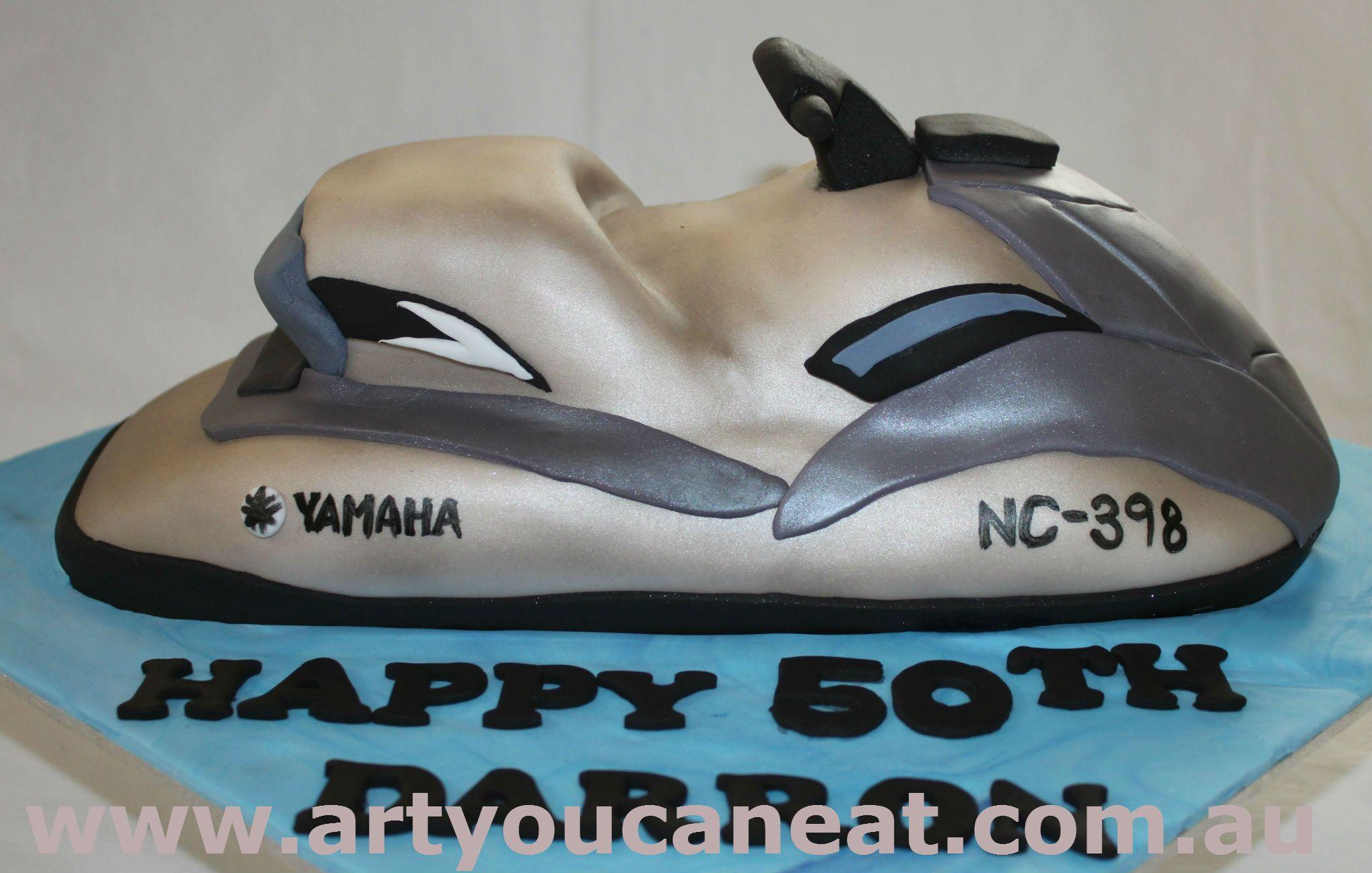 3d Jet Ski Cake Like Us On Facebook Https Www Facebook Com Artyoucaneatcakes Novelty Cakes Custom Cakes Cake Makers
