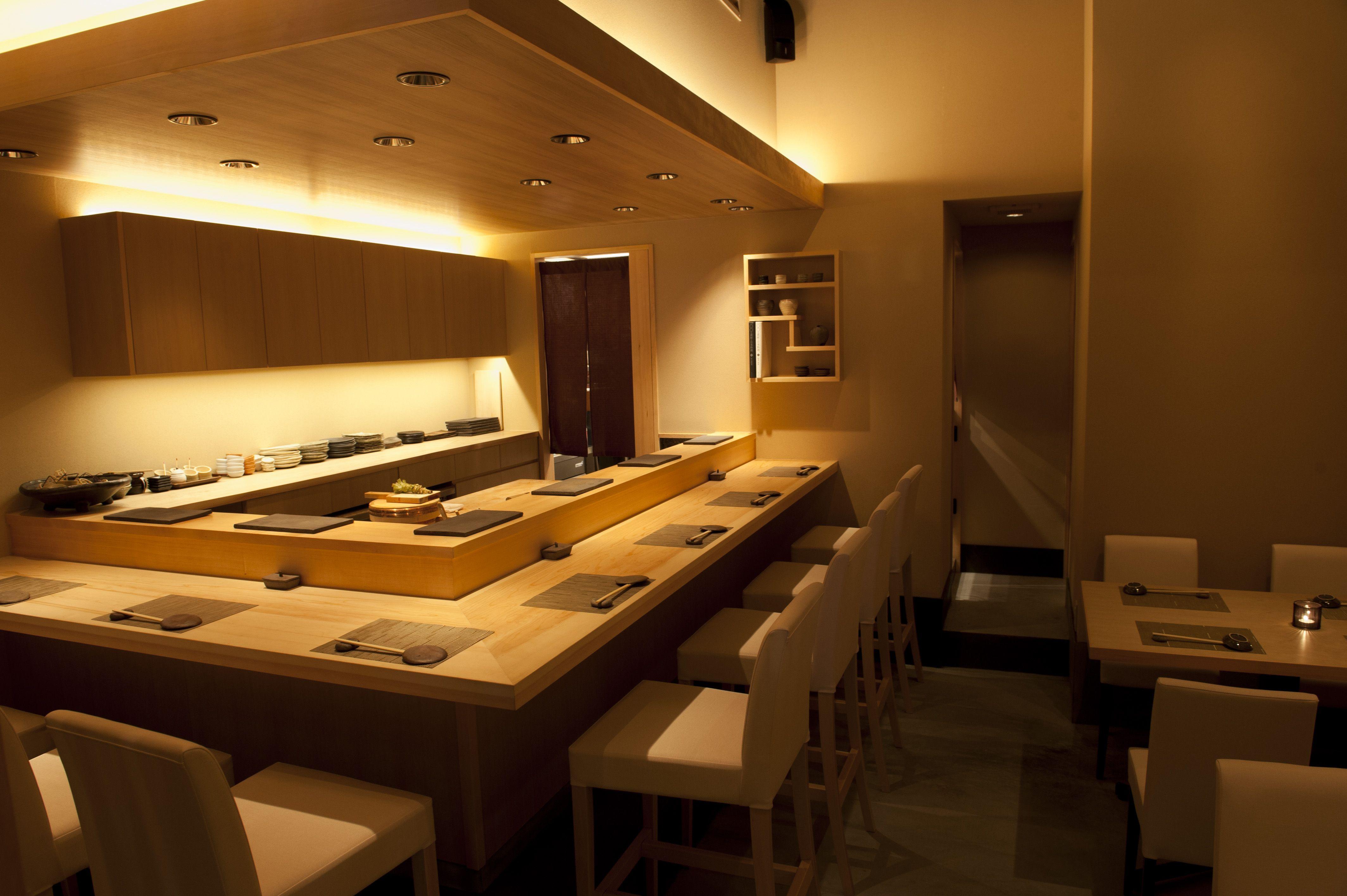 Isana sushi bar tokyo pinterest bar japanese for Modern house sushi 9 deler sett