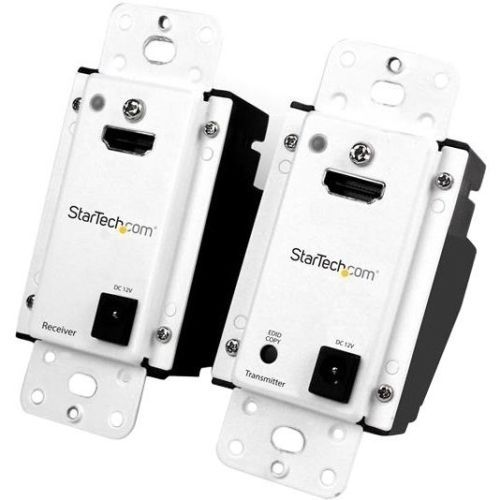 StarTech com Wall Plate HDMI over CAT5 Extender with Power