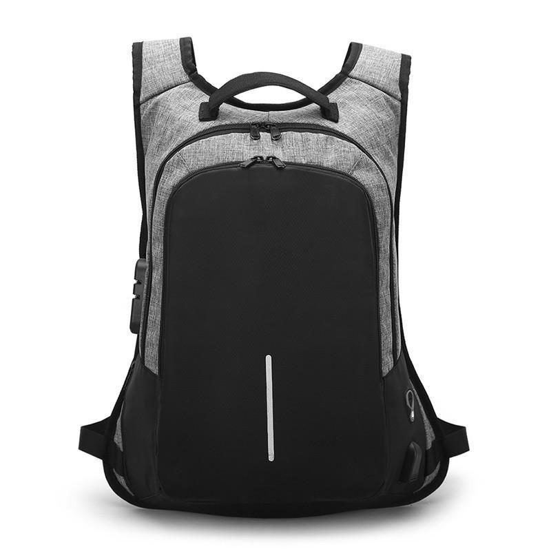 Men/'s Large Laptop Backpack,Business College Computer Bag USB Charging Port Nice