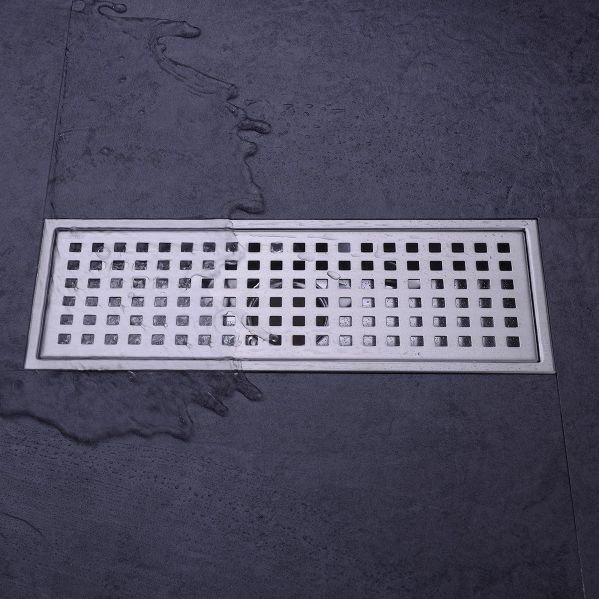 Hanebath Ql120402i Linear Shower Floor Drain With Tile Insert Grate Made Of Sus304 Stainless Steel 12 Inch Long Brushed Floor Drains Shower Floor Flooring