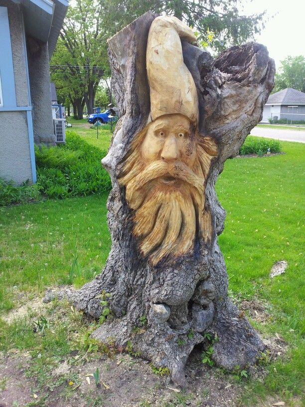 Woodspirit carved in a boxelder stump recipes