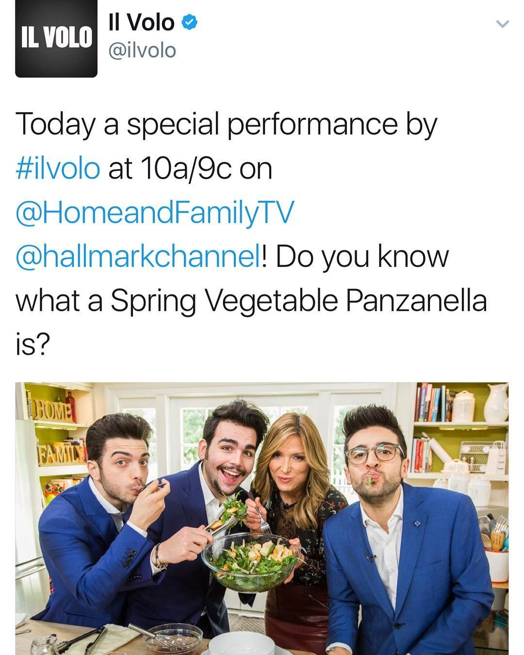 """206 Likes, 1 Comments - Il Volo Mundial Oficial (@ilvolomundialoficial) on Instagram: """"Tweeted by @ilvolomusic @hallmarkchannel @homeandfamilytv #ilvolo"""""""
