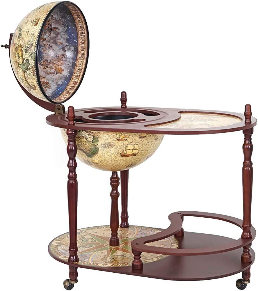 Globusbar Mit Tisch Hwc D84 Minibar Hausbar Tischbar Weltkugel O