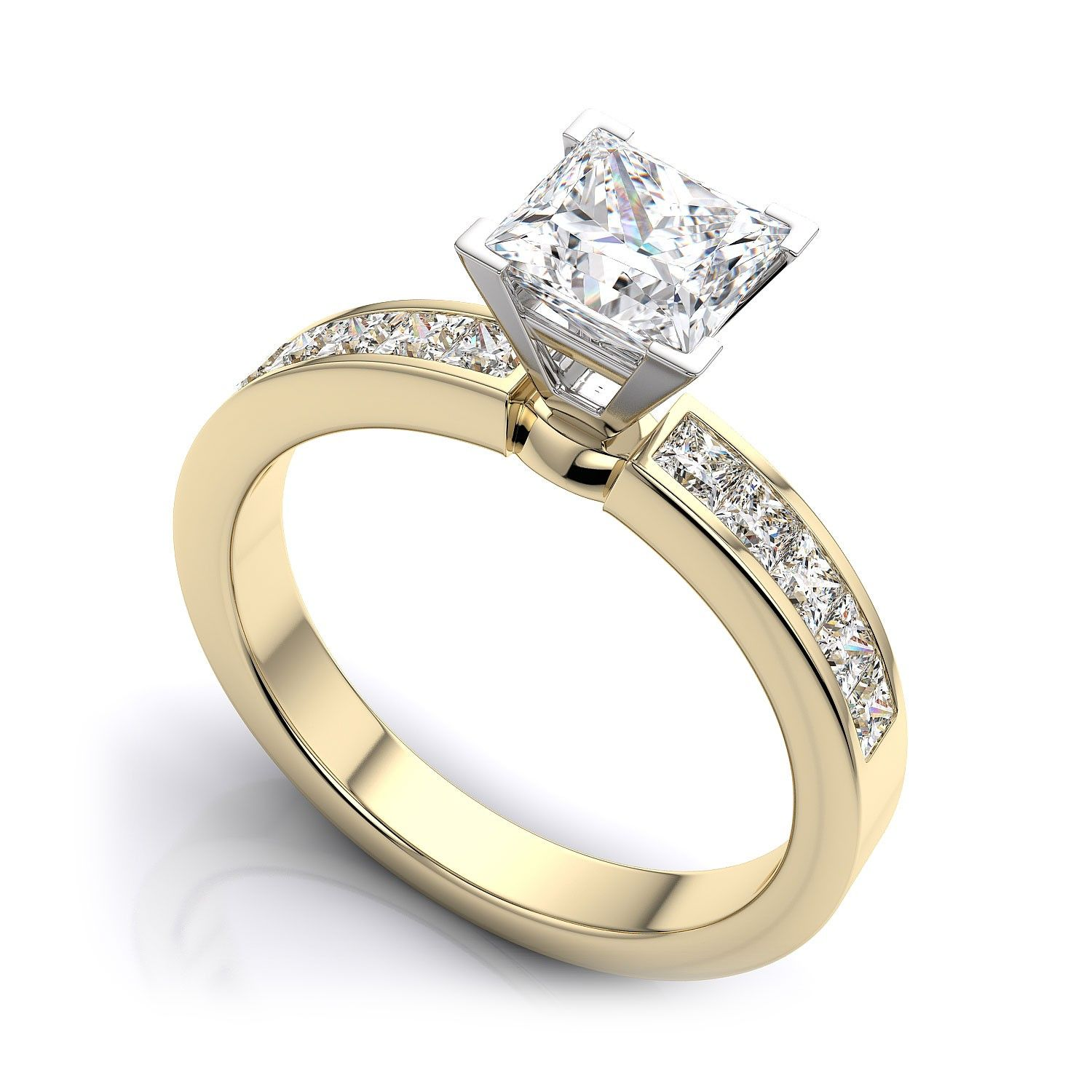 band ct gold rings stone product shop anniversary wedding womens rakuten real ring yellow diamond