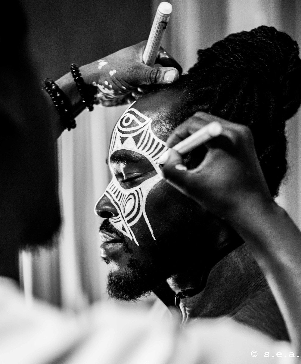 Ori yoruba ritual face painting by laolu african face paint african art tribal face