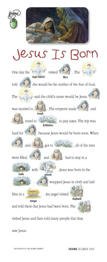 """""""Jesus is Born"""" story that little ones can help you read"""