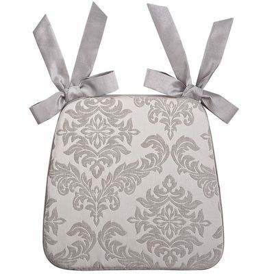 Weve Edited A Timeless Damask To Create This Thick Textured Pretty Cushion Matching Stripe Pattern Covers The Reverse And Ribbon Tie Backs Finish
