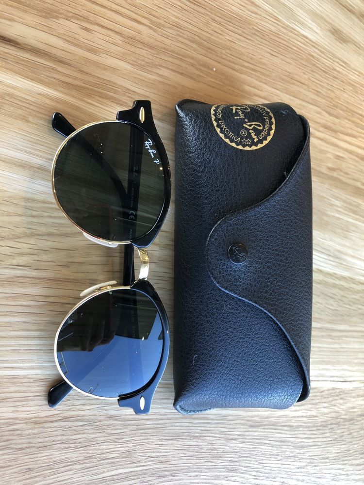 47e0b144ef482 Ray-Ban Club round Classic RB4246 901 58 Polarized Sunglasses  fashion   clothing  shoes  accessories  unisexclothingshoesaccs  unisexaccessories  (ebay link)